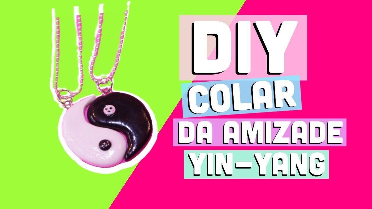 Colar Da Amizade Diferentes: DIY COLAR DA AMIZADE YIN-YANG