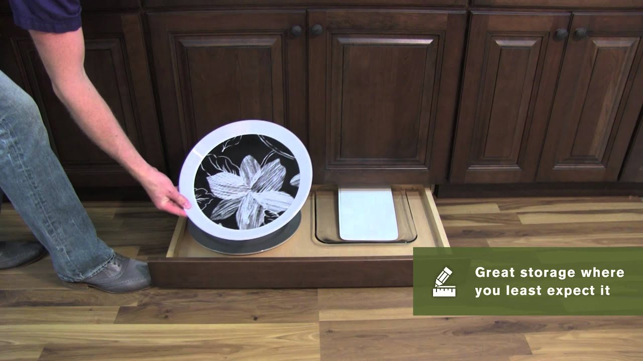Schuler Cabinetry: Toe Kick Drawer, Kitchen Storage Part 11   YouTube