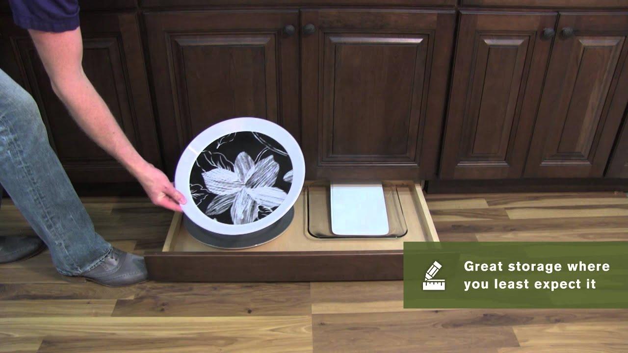 Schuler Cabinetry Toekick Drawer Kitchen Storage Part 11 YouTube
