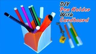 DIY Pen Holder With Cardboard | Cardboard Crafts Ideas Easy | Desk Decoration Ideas