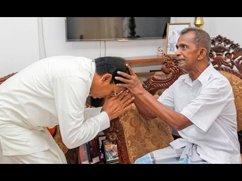 President Maithripala Sirisena visited his childhood mentor at his residence