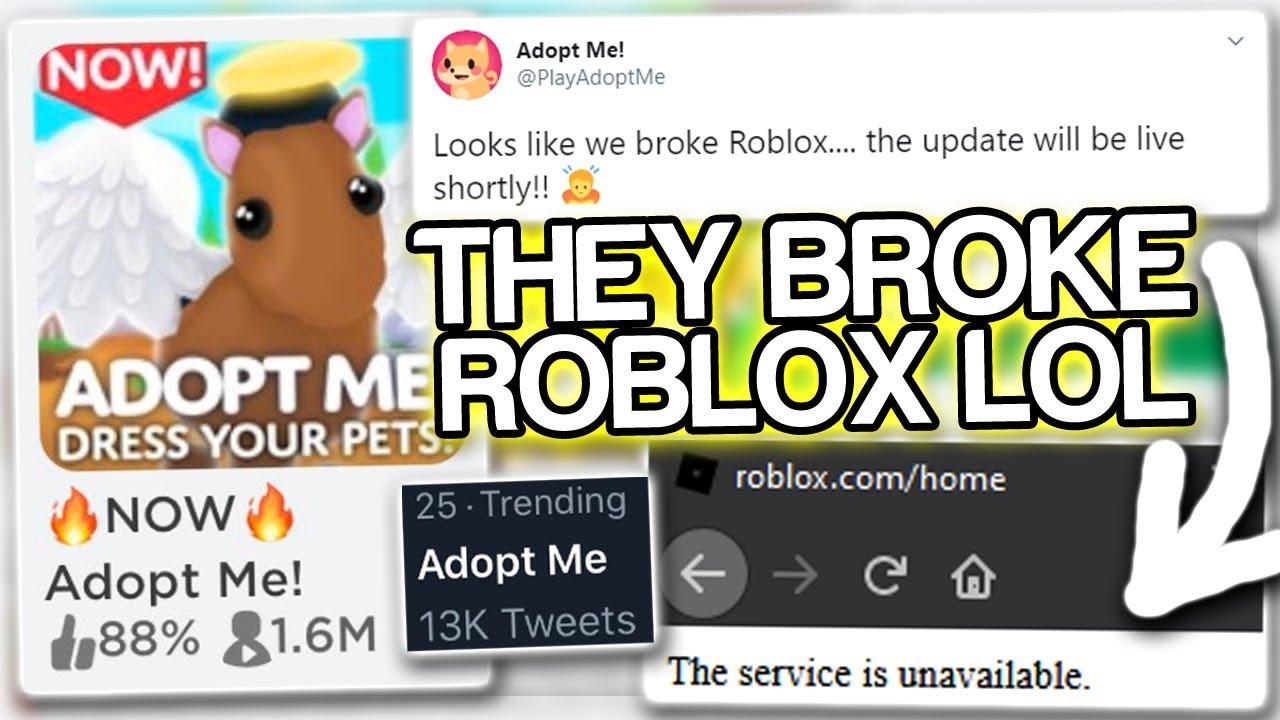 Adopt Me Literally Broke Roblox 2 Million Players Omg Youtube