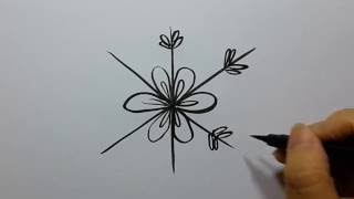 How to Draw Snowflake-Easy and Fun!!