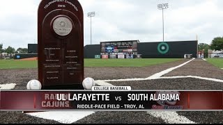 2015 Sun Belt Baseball Championship: UL Lafayette vs South Alabama Championship Game Highlights