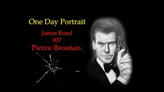 One Day Portrait- Pierce Brosnan 007.