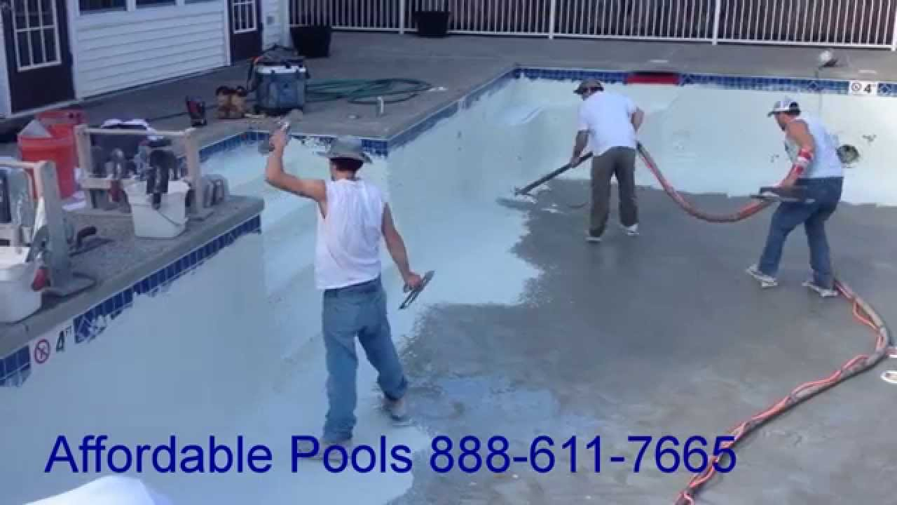 Burlington Ma Replaster Of Commercial Pool By Affordable Pools Youtube