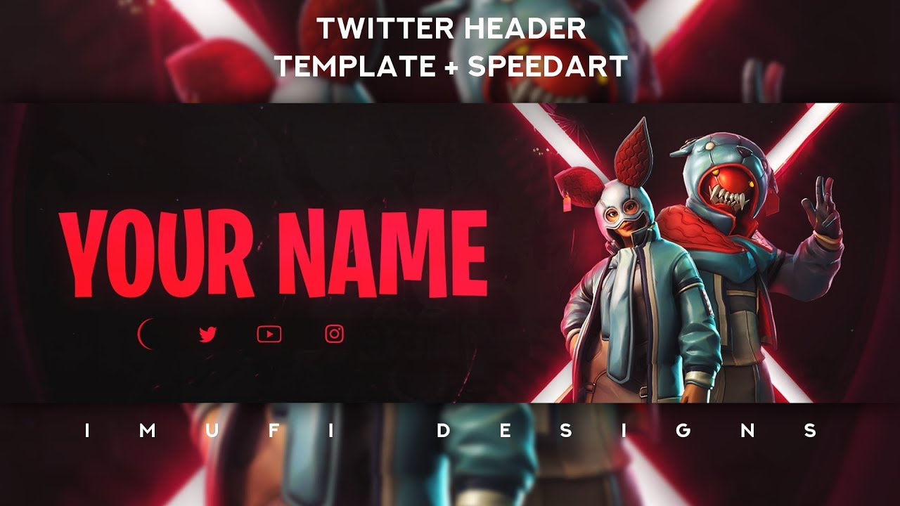 Epic Fortnite Twitter Header 2 Template Psd Speedart Free