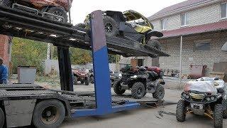 Как Погрузить Квадроциклы На Автовоз !? Квадро Поход В Чечню Часть 1