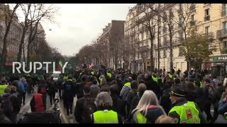 LIVE: Yellow Vests protesters join strike in Paris