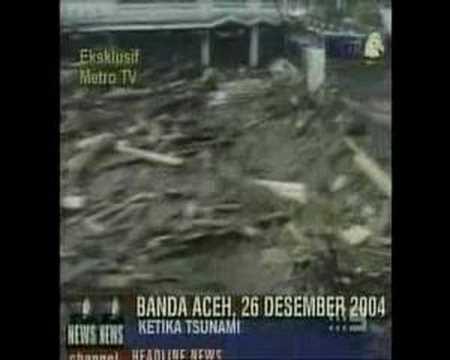 Tsunami In Banda Aceh Indonesia After Earthquake Youtube