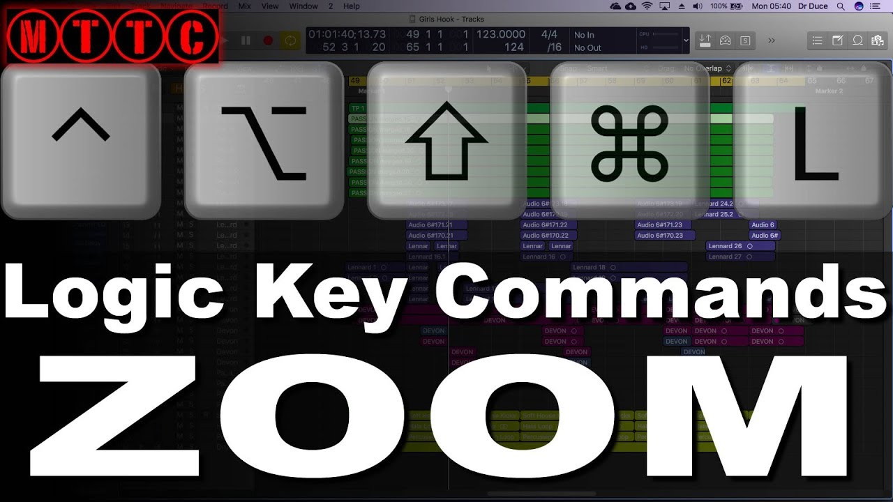 9594639f015 Logic Pro X Key Commands: Zoom In and Zoom Out - YouTube
