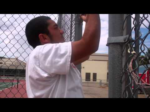 Pull-ups at Summer Tennis Program at Socorro High School, El Paso TX.