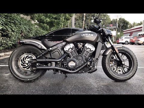 2018 indian scout bobber gp style exhaust sound clip drive by