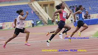 HIMA DAS BEAT DUTEE CHAND TO EMEREGE LEADER IN 200m  WITH A TIME OF 23.10