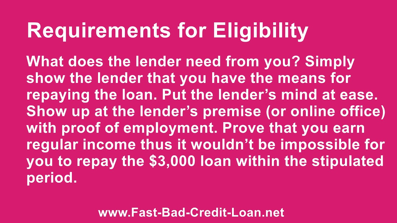 Bad Credit Personal Loan With Cosigner >> Are 3000 Dollar Unsecured Personal Loans With Bad Credit And No Cosigner Possible