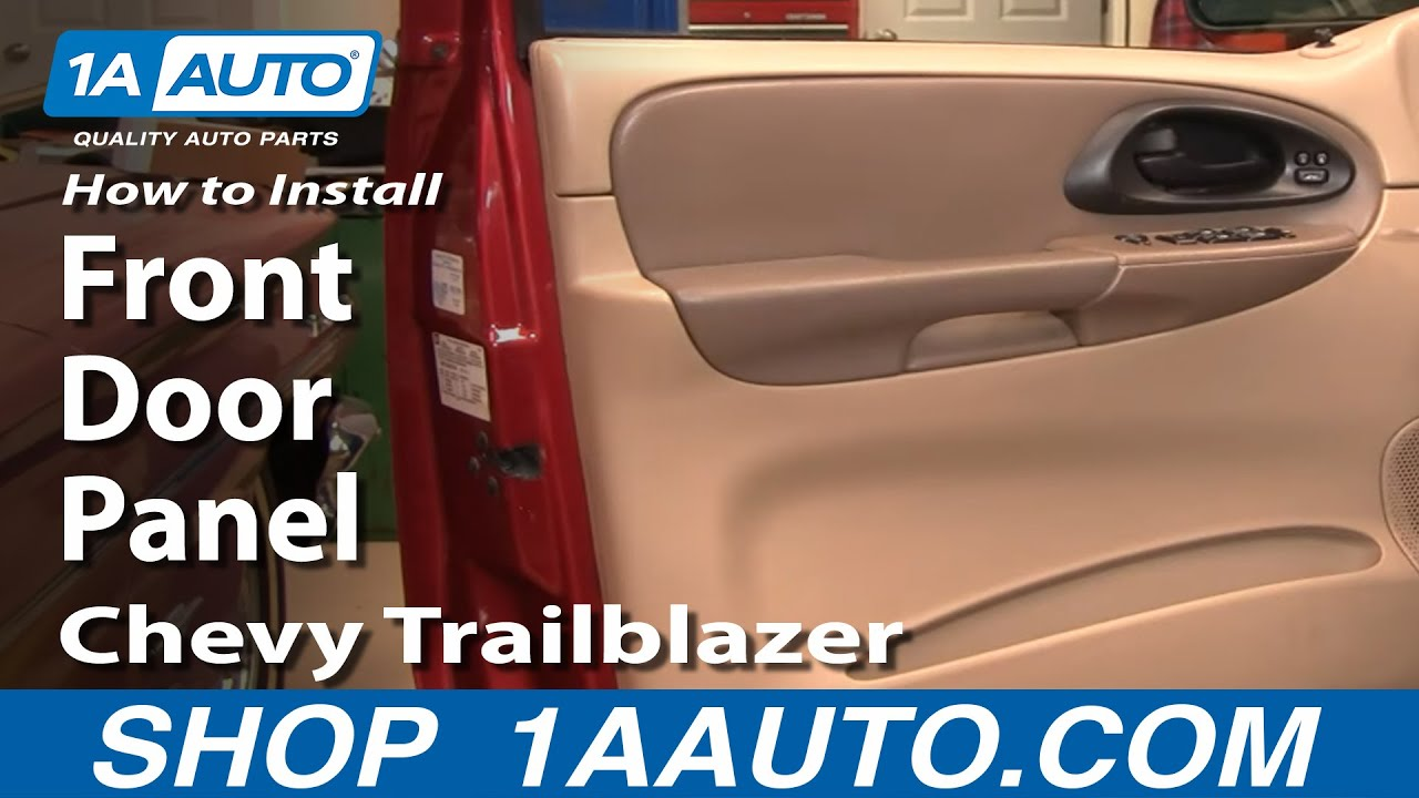 hight resolution of how to remove front door panel 02 09 chevy trailblazer