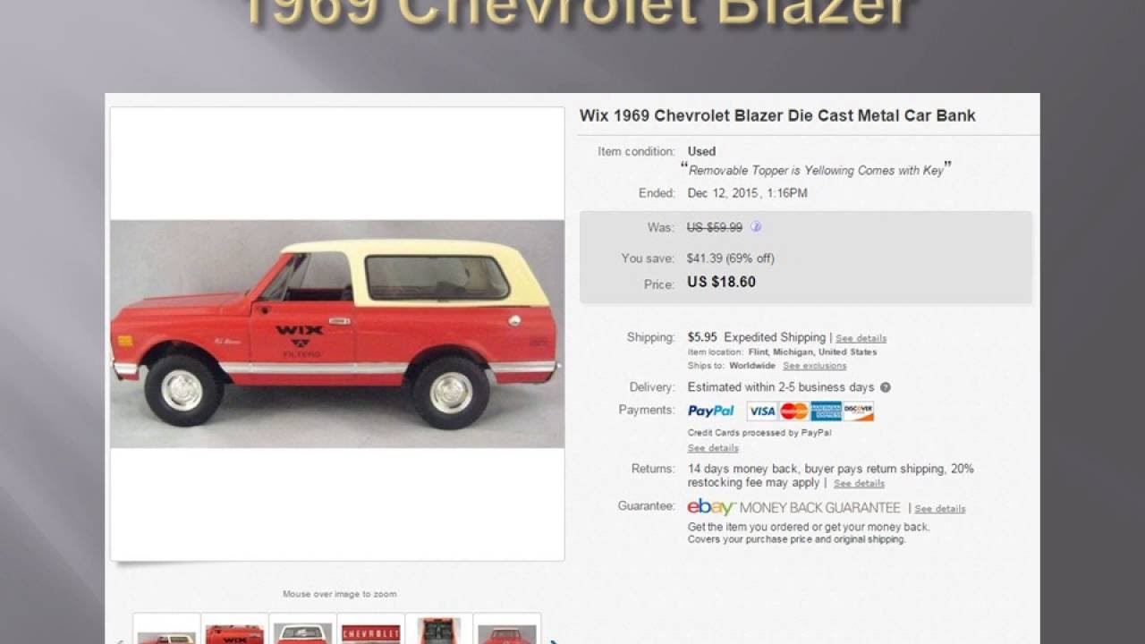 Die Cast Vehicles Ebay Sold Items Die Cast Cars and Trucks - YouTube