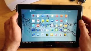 Samsung Galaxy Tab 2 10.1 : démarrage et utilisation