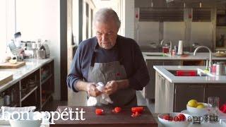Jacques Pépin Makes a Tomato Flower