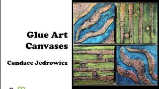 How to Create a Glue Art Canvas with Aleene's Burnt Brown Bag Technique by Candace Jedrowicz