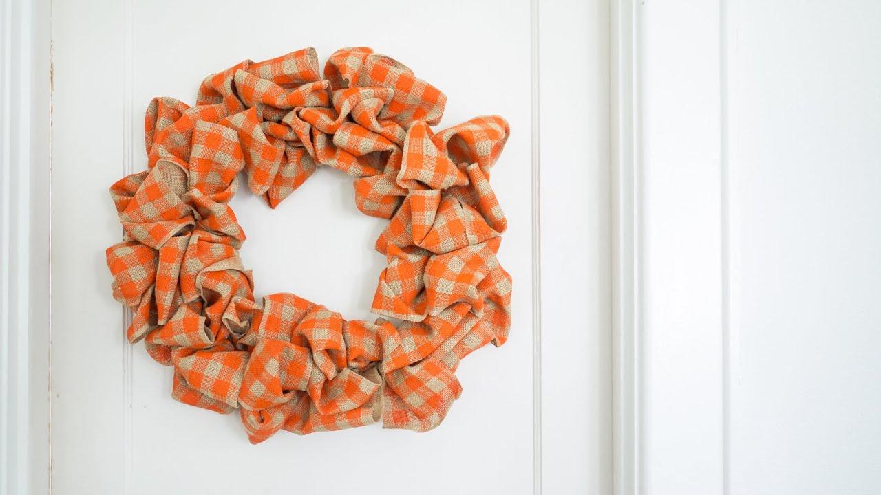 3-ingredient Easiest Burlap Wreath! - YouTube