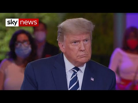 US Election 2020: Donald Trump's town hall - the highlights