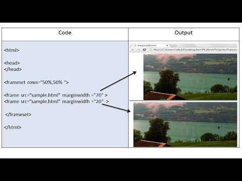 HTML Frames, Frameset Tag, Frame Tag - YouTube