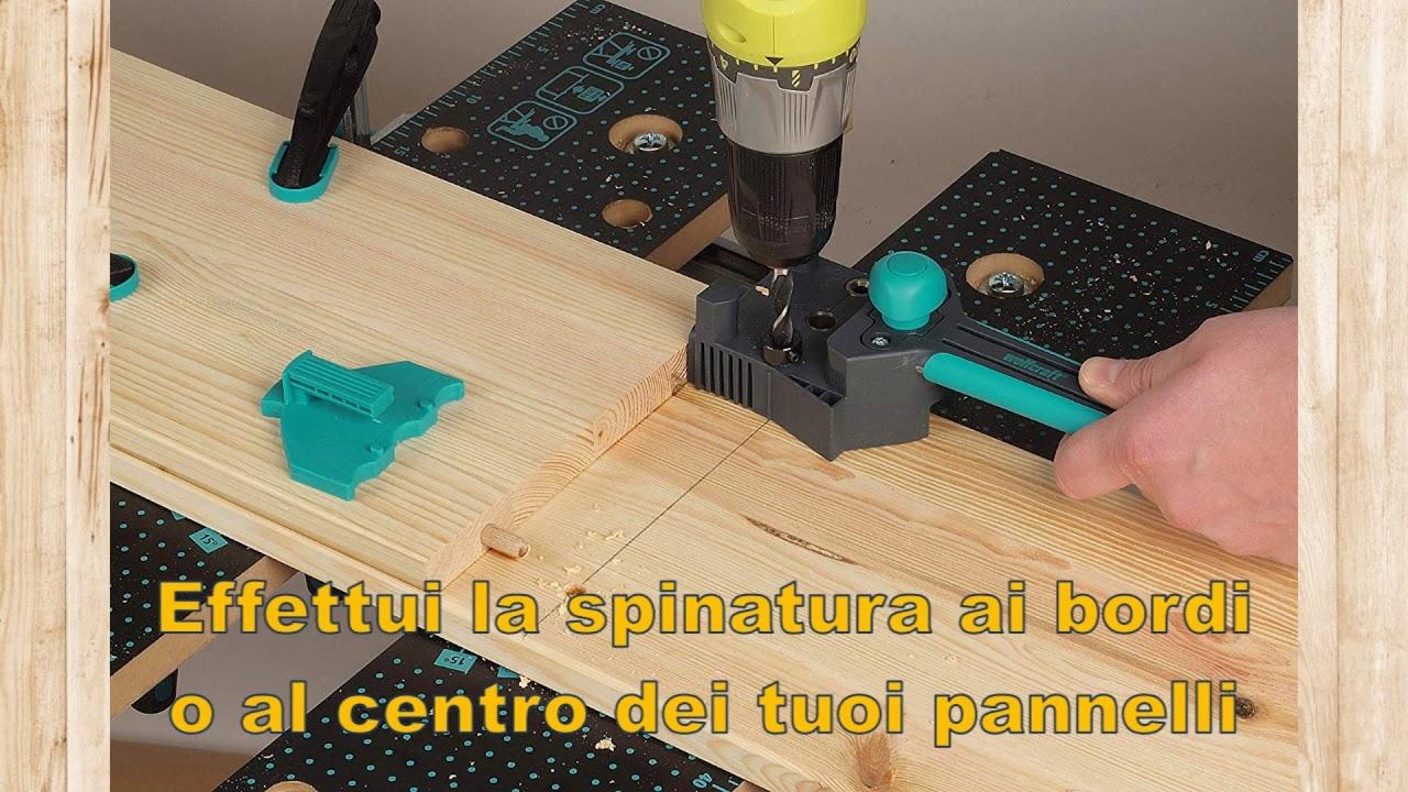 Wolfcraft 4640000 1 Guida Universale per Spinatura /& 2907000 150 Spine /Ø 8 mm