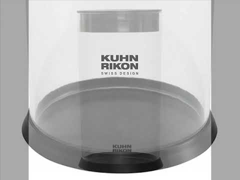 Kuhn Rikon Vision Clear Slotted Easy-to-Clean Knife Stand/Block, Circular