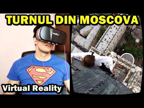 URCARE EXTREMĂ PE TURNUL DIN MOSCOVA ! Virtual Reality React