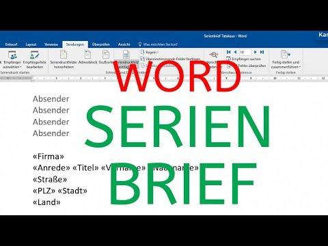 Word 2016 2013 Serienbrief Erstellen Mit Excel Datenquelle