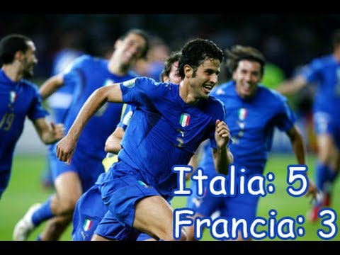 Italia World cup 2006 winning goal Waving Flag