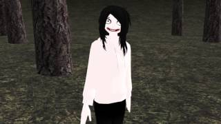 Slenderman vs Jeff the killer rap [MMD]