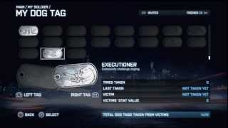 BATTLEFIELD 3 - The New I Executioner Dog Tag