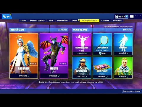 BOUTIQUE FORTNITE du 7 Mars 2019 ! ITEM SHOP March 7 2019 !
