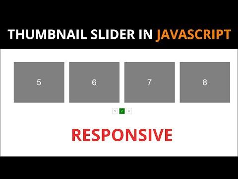 Responsive Thumbnail  Slider  using by  Html Css Javascript thumbnail