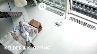 Jort Kelder krijgt koffie en brood van een drone