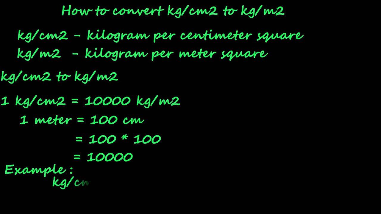 How to convert kg cm2 to kg m2 pressure converter youtube - Conversion tonne en m3 ...