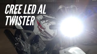 Como poner cree led a la Honda twister 250