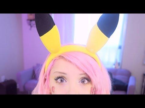 ASMR - Pikachu Roleplay //  Ear Massage , Cupping & Brushing