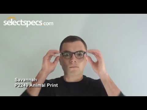 Savannah P2249 - Animal Print Glasses in Action