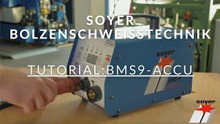 Ihr Anleitungsfilm für das Bolzenschweißgerät BMS-9 ACCU