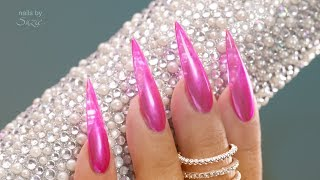 Jelly Nails with a Chrome Twist