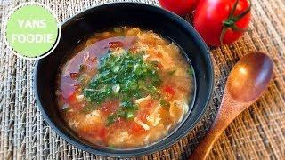 味噌蕃茄蛋花湯 Miso Tomato Egg Drop Soup