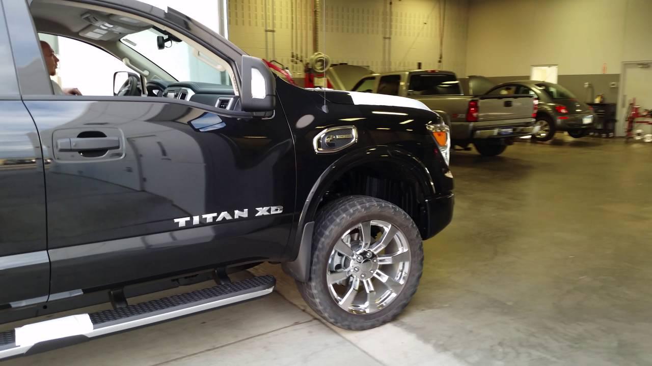 Nissan Diesel Truck >> 2016 Titan XD Pro 4X Diesel 2 Inch Lift 22 Inch CK375 WOW - YouTube