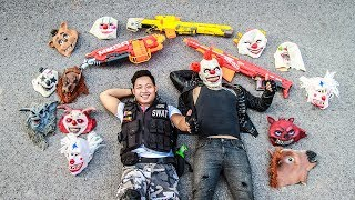 LTT Films : Special Task SWAT Warriors Nerf Guns Fight Crime Tiger Man Mask City Hunter