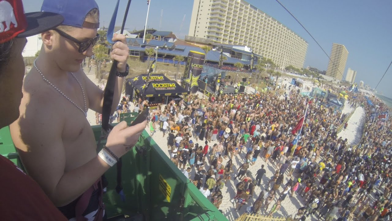 Panama City Beach Spring Break 2017 Zipline Over 100k People You