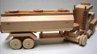 Wooden Toy Kit - Tractor Cab With Tank Trailer