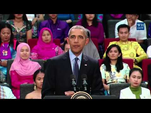 President Obama delivered remarks at a YSEALI town hall in Taylor's University, Kuala Lumpur, MY.