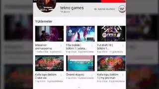 ÖNEMLİ VİDEO(KANAL TANITIMI TEKNO GAMES)